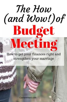 My husband and I have noticed many benefits of holding budget meeting. Here's the Wow and How of budget meeting to improve your marriage and finances.
