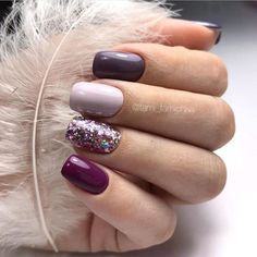 mix and match nail colors mix and match acrylic nails nail designs nail art desi. mix and match nail colors mix and match acrylic nails nail designs nail art designs nails fall nail colors 2019 fall nails 2019 autumn nails co Trendy Nails, Cute Nails, My Nails, Shellac Nails, Stiletto Nails, Manicures, Coffin Nails, Pretty Nail Colors, Fall Nail Colors