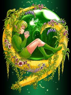 Legend of Zelda Ocarina of Time art graphic > Forest Sage Saria, Kokiri Emerald design Saria Zelda, Legend Of Zelda Characters, Faeries, Digital Illustration, Game Art, Fantasy Art, Fantasy Images, Cross Stitch Patterns, Fairy