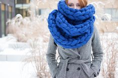 Looking for a this Christmas? The search is officially over! Chunky Knit Scarves, Oversized Scarf, Chunky Knits, Cowl Scarf, Knit Cowl, Exclusive Collection, Hand Knitting, Stylish, Search