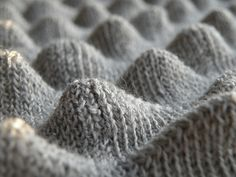 Textile Manipulation - knitted surface design with three-dimensional peaks - 3D knits & bubble textures // Gaby Durnford