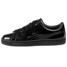 Puma Basket Classic Patent Emboss Mens 362035-04 Black Leather Shoes Size  8.5