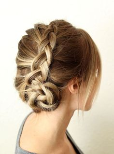 Dutch Braid Updo for Party Hairstyle
