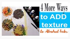 I am back with new and fresh ideas for using alcohol inks. This time is all about adding texture using supplies you likely have! Easy Food Art, Types Of Meditation, Alcohol Inks, Easy Meals, Exercise, Draw, Make It Yourself, Texture, Paint