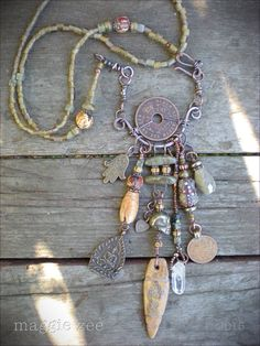 Prayer for the Ancestors Shaman Amulet Necklace by maggiezees on Etsy