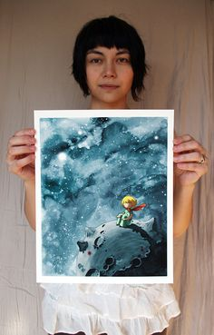 Little Prince Art 11x14in Fine Art color archival by stasiab