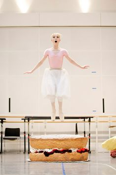 Sarah Lamb in rehearsals for Alice's Adventures in Wonderland
