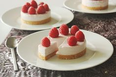 Cheesecakes aux framboises sans gluten - Gluten free raspberry cheesecakes