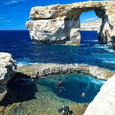 The Azure Window, at Gozo/Malta. Been there, it was beautifull.