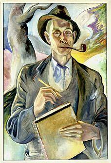 E. E. Cummings (American, 1894-1962) - Self-Portrait - 1938 - Oil on canvas - 81,3x53,3cm