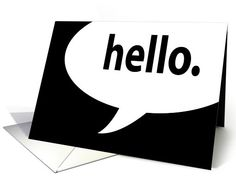 hello. comic speech bubble card (905937) by Asyrum