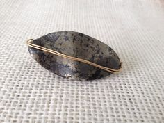 Double finger gold on gold ring on Etsy, $45.00