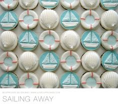 A powdered sugar sailboat on a blue cake would be adorable for a summer party or a little boy's birthday cake!!