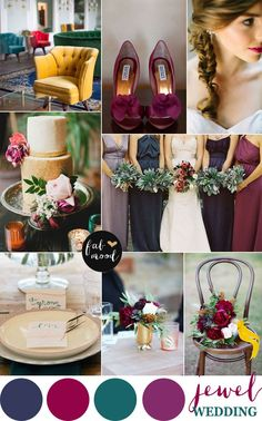 Jewel toned wedding color palette
