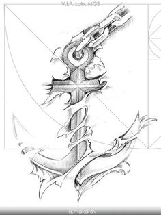 Anchor Tattoo Design, Sketch Tattoo Design, Anchor Tattoos, Tattoo Sleeve Designs, Tattoo Sketches, Tattoo Drawings, Sleeve Tattoos, Anker Tattoo, Navy Tattoos