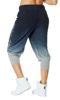 Get Faded Baggy Capris [Back to Black]
