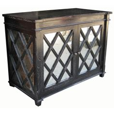 Restoration Warehouse Antique Glass Chest - Hand Rubbed Black