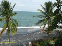 This is my favorite picture of the beach at Coronado.  I love the patterns in the black sand and the way the palms frame the picture.  Check out our blog www.panamaroadrunner.blog for great ideas about #Moving to #panama or #Vacations in Panama.