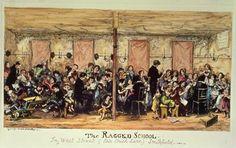"""""""The Ragged School, West Street"""". George Cruikshank"""