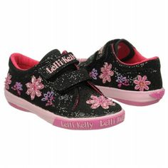 Lelli Kelly Jasmine Velcro Tod/Pre Shoes (Black Glitter) - Kids' Shoes - 31.0 M
