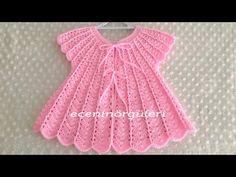 Crochet Baby Dress Pattern, Baby Girl Crochet, Crochet Baby Clothes, Crochet Diagram, Baby Knitting Patterns, Crochet Patterns, Moda Crochet, Baby Cardigan, Hand Embroidery Designs