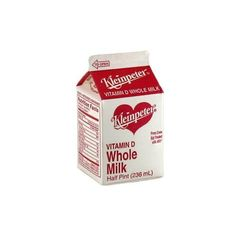 Whole Milk - Half Pint Carton