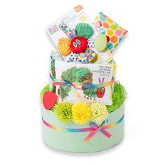 【赤すぐ限定】はらぺこあおむし おむつケーキの2段d直径×高さ:30×46cmの出産祝いなら【赤すぐ 出産祝い】/出産祝いのギフト・プレゼントの通販