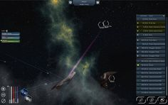 Battleships in a space fight