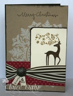 Dasher and Modern Medallion Stampin' Up! Christmas Card. Dasher Stampin Up Christmas card