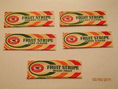 Fruit Stripe gum wrappers