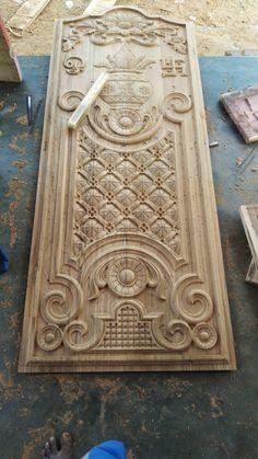 House Main Door Design, Wooden Front Door Design, Wood Bed Design, Pooja Room Door Design, Door Gate Design, Door Design Interior, Wooden Front Doors, Wooden Wall Art Panels, Spiral Stairs Design