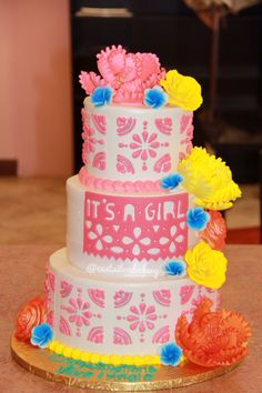 Fiesta Babyshower Cake.. Mexican Themed Party!