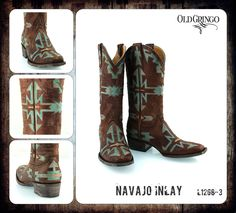 Navajo Inlay new old gringo boots