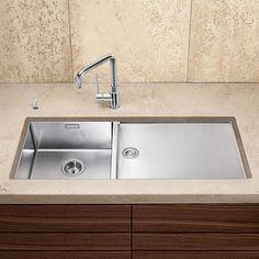 Blanco Claron 400/550-T-U kitchen sink W: 101.5 D: 44 cm, bowl left, stainless steel