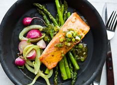 Eatsy: Broiled Salmon and Spring Vegetables on Etsy