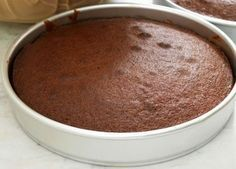How to make Basic Eggless Chocolate Cake - This is a basic Eggless Chocolate Cake recipe that can be used a base for any other cakes or can also be served as it is. Very simple and easy to