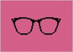 0 point de croix lunettes - cross stitch glasses