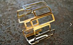 Modern Contemporary Sterling Silver Bracelet by OrneJewels on Etsy, $210.00