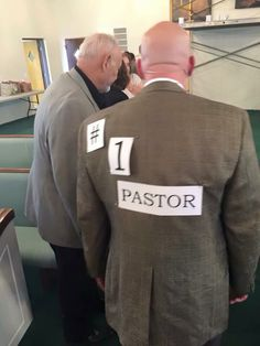Pastor Appreciation Day.. Hug your pastor or pat his back and leave a sign!
