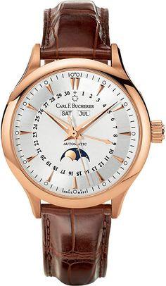 e95524c4224b CARL F BUCHERER 00.10909.03.13.01 rose-gold slim leather strap watch Swiss