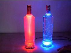 Recycled Glass Bottles Unique Lamp