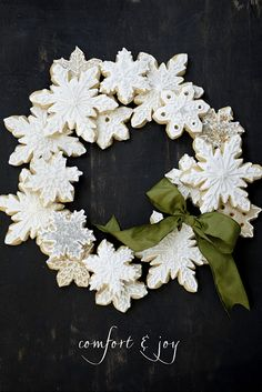 Snowflake cookie wreath