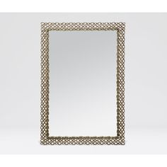 Finish: Polished Brass  A simple metal chain becomes an elegant mirror border. Cast in brass with an open pattern, the Rocco is pure elegance.