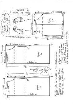 T Shirt Sewing Pattern, Shirt Dress Pattern, Baby Dress Patterns, Pattern Drafting, Doll Clothes Patterns, Clothing Patterns, Sewing Lessons, Sewing Class, Costura Diy