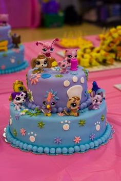 littlest pet shop cake ideas | ... Pets on the cake to her collection! Also, like all of Joanna's cakes