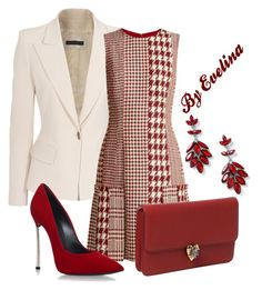 A fashion look from August 2017 featuring red mini dress, cream jacket and pointy toe shoes. Browse and shop related looks. Work Fashion, Modest Fashion, Fashion Outfits, Polyvore Dress, Polyvore Outfits, Classy Work Outfits, Fashion For Petite Women, Work Chic, Feminine Dress
