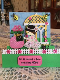 Mother's Day card using Cricut Kate's ABC's.