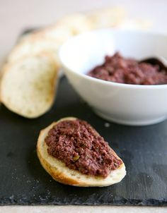 Olive Tapenade...now if I can find a good recipe for hummus I'm set!