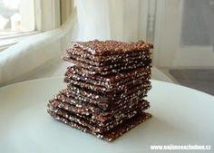 quinoa sušenky Krispie Treats, Rice Krispies, Quinoa, Raw Food Recipes, Protein, Deserts, Low Carb, Vegetarian, Paleo