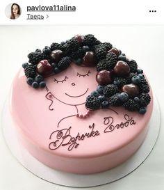 Tortas con frutos rojos Birthday Cake Girls, Mother Birthday Cake, Pretty Cakes, Gorgeous Cakes, Funny Cake, Drip Cakes, Sweet Cakes, Mothers Day Cakes Designs, Pavlova Cake